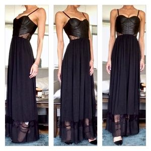 Alice + Olivia Elis Leather Maxi Dress Gown